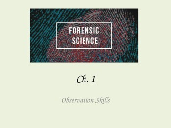 Forensic Science Observation Skills Worksheets Teaching Resources Tpt