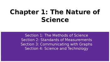 Ch 1: The Nature of Science