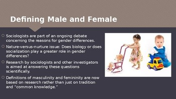 Ch 10.1 Sex and Gender Identity - Inequalities in Gender & Age - Sociology & You