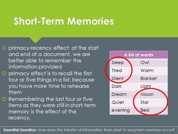 Ch 10.1 Taking In and Storing Information Memory Thought Psychology McGraw Hill