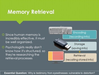 Ch 10.2 Retrieving Information - Memory and Thought Psychology McGraw Hill