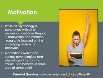 Ch 12.1 Theories of Motivation - Motivation and Emotion Understanding Psychology