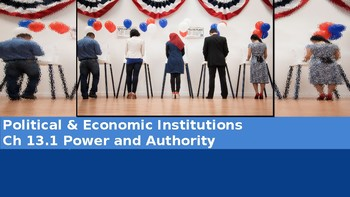 Ch 13.1 Political Power & Authority Political & Economic Institutions  Sociology