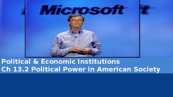 Ch 13.2 Political Power in American Society - Political Institutions Sociology