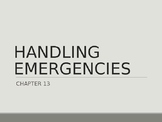 """Driver's Education Ch. 13 """"Handling Emergencies"""" Power Point"""