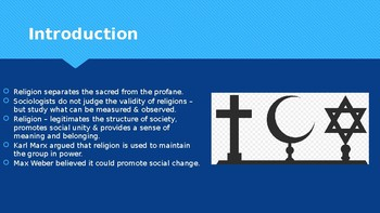 Ch 14.1 Religion and Society - Sociology and You - McGraw Hill