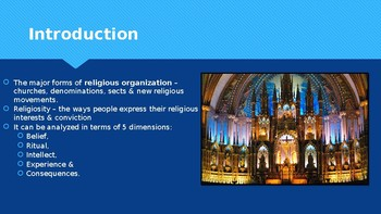 Ch 14.2 Religious Organizations and Religiosity Sociology and You - McGraw Hill