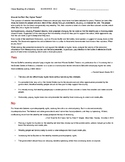 Ch 14.3 Economics - Close Reading of Debate/Primary Source Common Core Worksheet