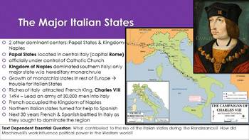 Ch 15.1 The Italian States - The Renaissance in Europe - World History McGraw