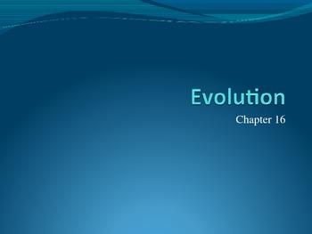 Ch. 16 Evolution Slideshow