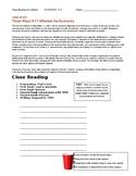 Ch 17.1 Economics - Close Reading of a Case Study - Common Core Worksheet