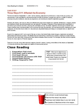Ch 17.1 Economics - Close Reading of a Case Study - Common Core Worksheet