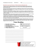 Ch 2.1 Economics - Close Reading of a Case Study Text - Common Core Worksheet