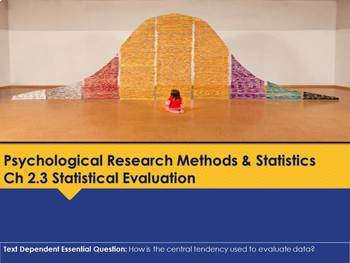 Ch 2.3 Statistical Evaluation - Psychology Methods - McGraw Hill