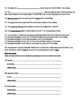Ch. 2 - 5th Grade Social Studies Study Guide, Test & Essays TN The Later Years
