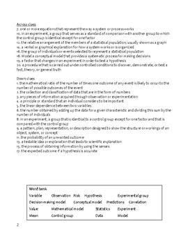 Ch.2 Holt Environmental Science Crossword - Tools of Environmental Science