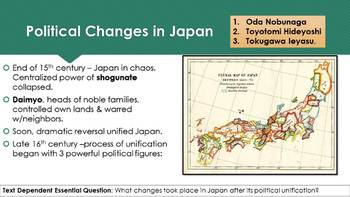 Ch 20.2 Reunification of Japan - East Asian World - World History McGraw