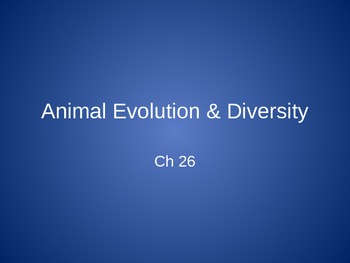 Ch. 26 Animal Evolution & Diversity Slideshow