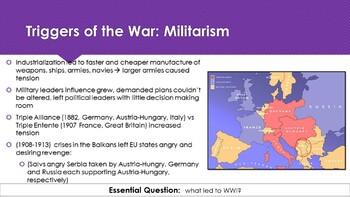 Ch 27.1  The War Begins - World War I & Revolution in Russia - World History