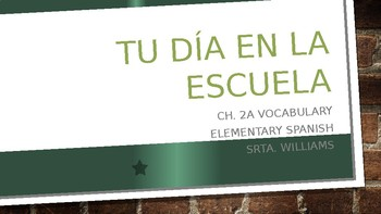 Ch 2A Vocab- Realidades 1