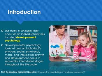Ch 3.1 - Physical, Perceptual, and Language Development - Infancy - Psychology