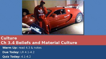 Ch 3.4 Beliefs and Material Culture  - Sociology and You McGraw Hill