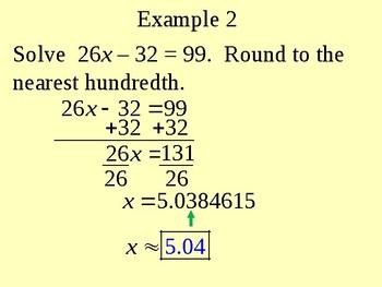 Solving Decimal Equations