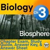 Ch 3 - The Biosphere Exam (Only 3.1 & 3.3) Editable - Miller & Levine 2019