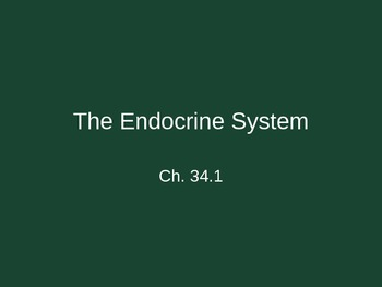 Ch. 34-1 Endocrine System Slideshow