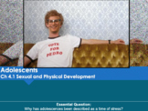 Ch 4 Adolescents FIVE PowerPoints Bundle - Psychology
