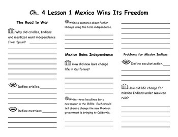 Ch. 4 Lesson 1 Mexico Wins its Freedom