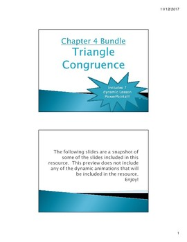 ch 4 triangle congruence geometry powerpoint lessons bundle by