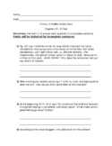 Ch. 41-43 I Funny A Middle School Story Reading Comprehension Test