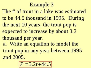 Writing Linear Equations in Slope Form