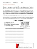 Ch 5.3 - Close Reading of a Case Study - Common Core Worksheet