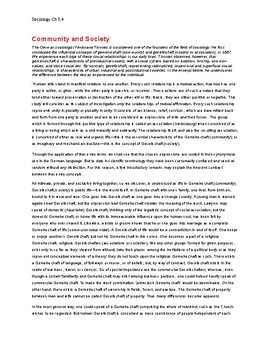 Ch 5.4 Sociology - Close Reading of a Primary Source - Common Core Worksheet