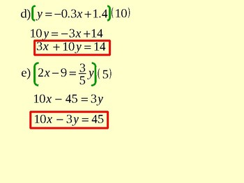 The Standard Form of a Linear Equation