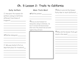 Ch. 5 Lesson 2 Trails to California Notes Page