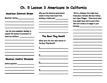 Ch. 5 Lesson 3 Americans in California