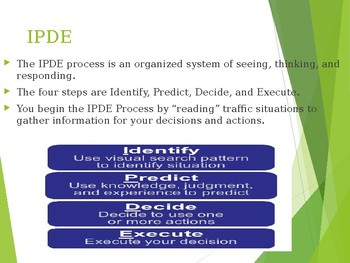 Driver's Education Ch. 5 Power Point Managing Risk with the IPDE Process