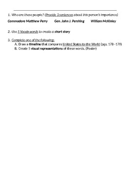 Ch 5 Vocab Key Terms and Activity- McGraw Hill US History
