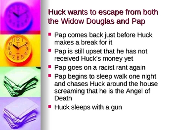 Ch. 6-10 Powerpoint of Huckleberry Finn