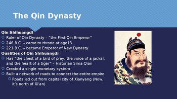 Ch 6.2 The Qin Unify China - First Chinese Empires McGraw Hill