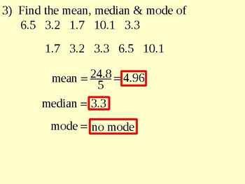 Stem-and-Leaf Plots and Mean Median and Mode