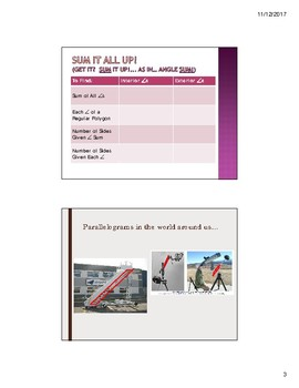 Ch 6: Properties of Quadrilaterals Geometry Lesson PowerPoint Bundle