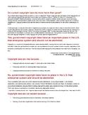 Ch 7.1 - Close Reading of a Case Study - Common Core Economics Worksheet