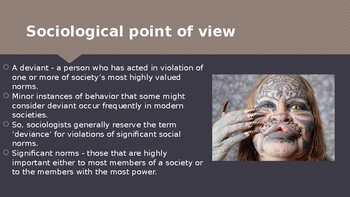 Ch 7.1 Deviance and Social Control Sociology and You McGraw Hill