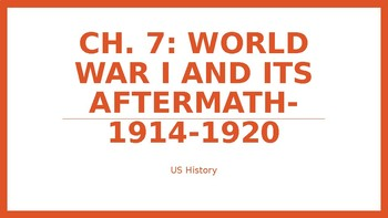 Ch 7 World War I And Its Aftermath Powerpoint Notes Mcgraw Hill Us