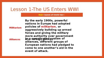 Ch 7 World War I and its Aftermath PowerPoint Notes- McGraw Hill US History