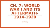 Ch 7 World War I and its Aftermath PowerPoint Notes- McGra